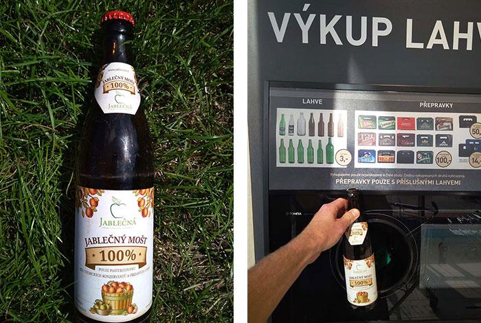 Mošt v pivní láhvi - foto
